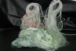 Готова рибарска мрежа Мрежа за риболов капрон тройна