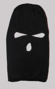 Hat thin ninja mask 3 holes black