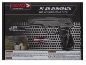 Air pistol Gamo PT-85 Blowback cal 4.5 mm KIT binoculars paper targets pellets