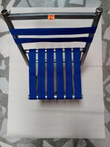 Small folding chair with backrest