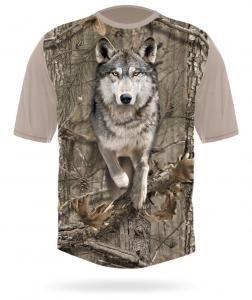 Hunting Clothes 3DX Camo Wolf Running T-shirt XL short sleeve Hillman