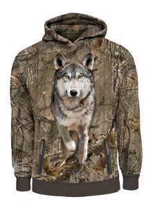Hunting Clothes Mens Running Wolf 3D Printed Hooded Sweatshirt Hillman XL