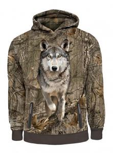 Hunting Clothes Mens Running Wolf 3D Printed Hooded Sweatshirt Hillman XXXL
