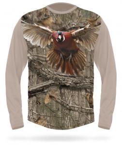 Hunting Clothes PHEASANT T-Shirt Long Sleeve 3DX Camo XL Hillman