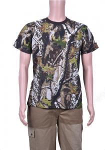 Hunting Clothes T-shirt Green Camouflage N 46