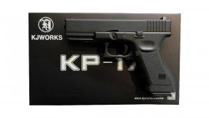 Airsoft KJ Works KP-17 G17 Co2 Blowback Pistol (Black)