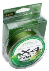 Line Mistrall Shiro X4 Silk 150 m 0.17 mm