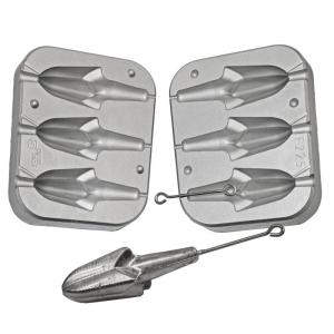 Fishing mold for 3 anchor leads with wire axis 140-160-180 g