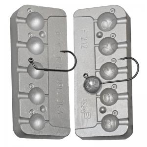 Fishing mold for 5 twister heads 18-20-22-25-30 grams N0212