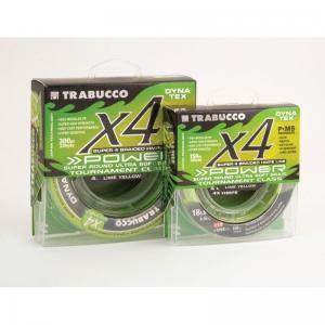 Line Trabucco Dyna-Tex X4 Power UV Braid Lime Yellow 150 m 0.165 mm