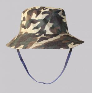 Hat Big Fishing Hat with chin strap camo