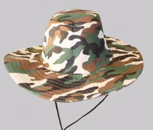 Hat Outdoor Wide Brim Foldable Breathable Fishing Sunhat Boonie Camouflage