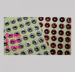 Optical 3D eyes red 5 mm 154 pcs