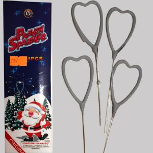 Party accessory Pattern Sparkler Heart 4 pcs