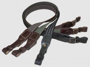 Gun belt Anti-slip ending with leather