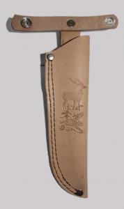 Leather accessory handmade leather sheath Ivan Radev beige N1