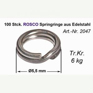 Cast for lead Rosco USA springring stainless with diameter 5.5 mm 100 pcs